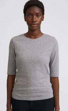 Filippa K Cotton Stretch Elbow Sleeve - Grey Melange