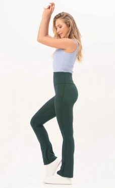 Gravity Flared Tights - Emerald