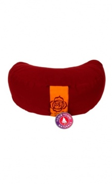 Half Moon basic meditation cushion - Red