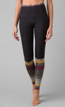 prAna Zandra Stirrup Legging - Onyx Heather