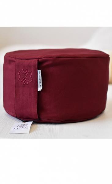 Love Generation Meditation Cushion - Burgundy Red - 2
