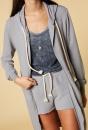 10Days Long Hoodie Cardigan - Grey/blue - 3
