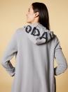 10Days Long Hoodie Cardigan - Grey/blue - 4