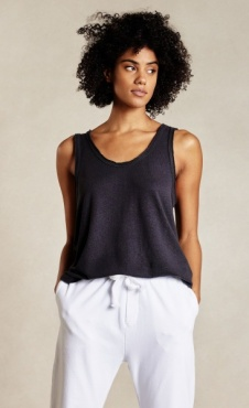 10Days The Linen Top - Dark Grey Blue