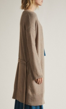 Lanius Merino Knit Coat - Natural Melange