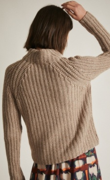 Lanius Soft Rib Pullover - Natural Melange