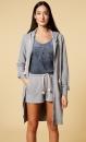 10Days Sleeveless Linen Top - Washed Dark Grey Blue - 4