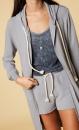 10Days Sleeveless Linen Top - Washed Dark Grey Blue - 5