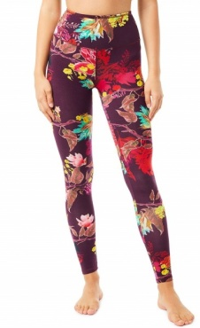 Natural Printed Legging Flaming Flower