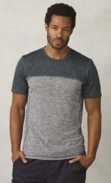 PrAna Colorblock Tee Hardesty - Grey