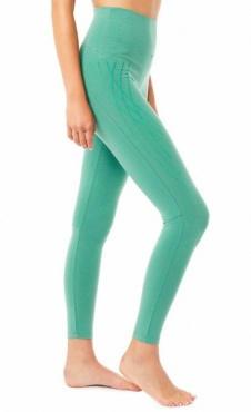 High Waist Flock Legging - Jade
