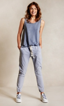 10days Cropped Jogger Faded Grey Blue