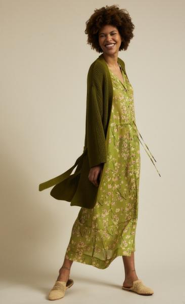 Lanius Cotton Knit Cardigan - Olive - 3