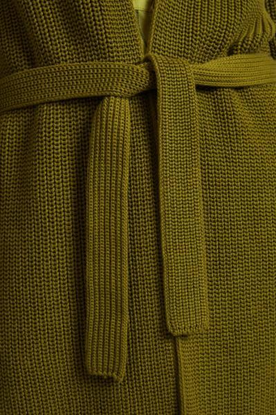 Lanius Cotton Knit Cardigan - Olive - 6