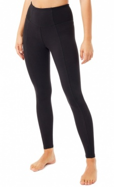 High Waist Rib Leggings Black