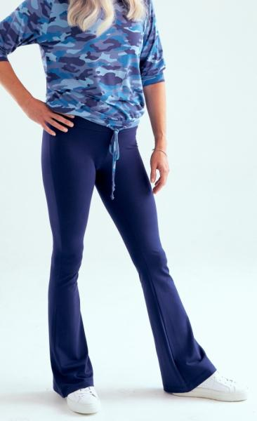 321 Asquith Extra Long Flared Pants - Midnight - 1
