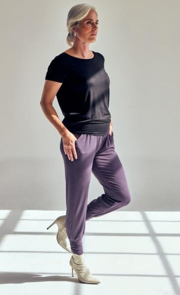 321 Long Harem Pants - Pebble - 2