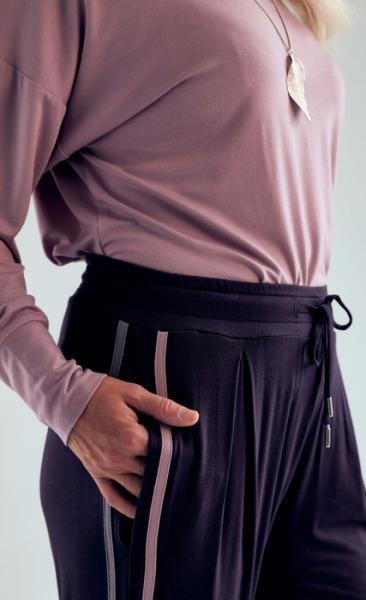 321 Drawstring Pants - Grey Pebble Blush - 1