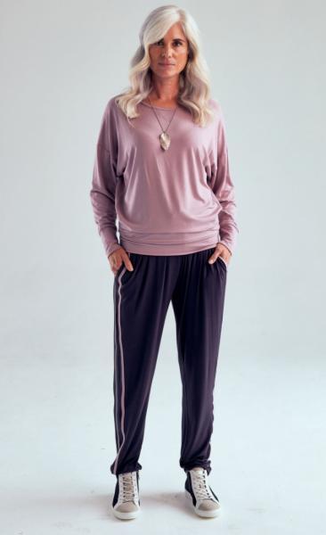 321 Drawstring Pants - Grey Pebble Blush - 3