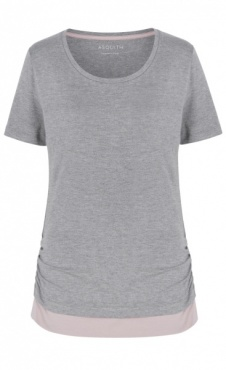 Bend It Tee - Grey Marl / Blush