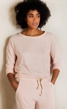 10Days Linen Longsleeve - Soft Pink