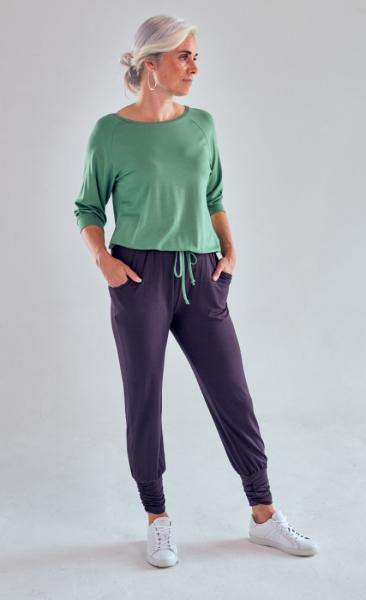 Long Harem Pants - Pebble - 4