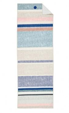 Linen Stripe Manduka Yoga Towel