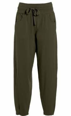 Relaxed Fit Pants - Olive Green