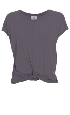 Twisted Tee - Purple Grey