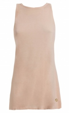 High Neck Swing Back Top - Peach Rose