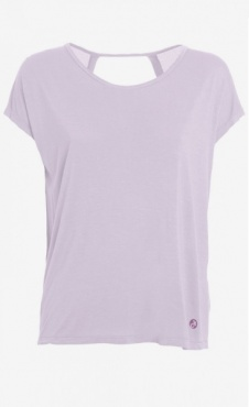Twisted Back Tee - Lilac
