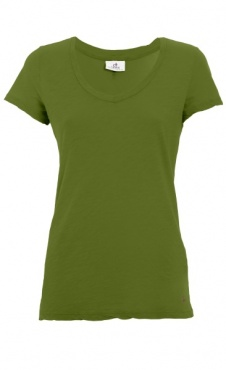 V-Neck Basic Tee Piquant Green