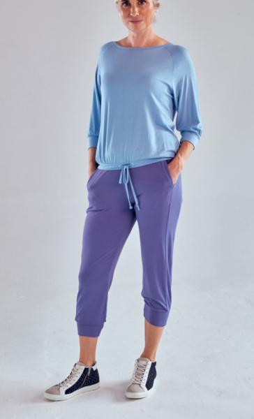 Asquith Crop Pant - Azure - 3