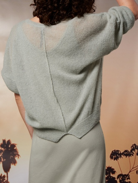 10Days V-Neck Sweater Alpaca - Pistache
