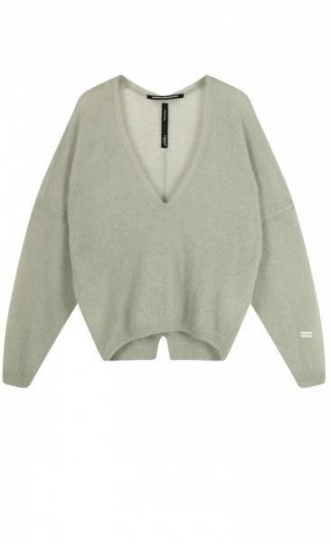 10Days V-Neck Sweater Alpaca - Pistache - 1