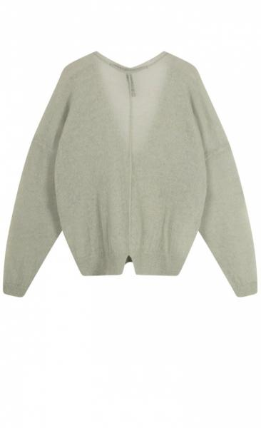 10Days V-Neck Sweater Alpaca - Pistache - 2