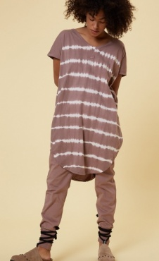 10Days Tunic Dress Tie Dye - Dust Pink