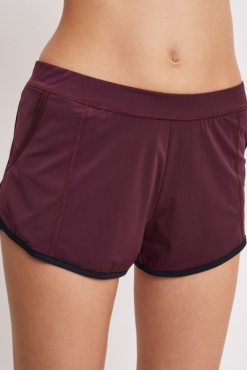 Filippa K Flex Shorts Maroon