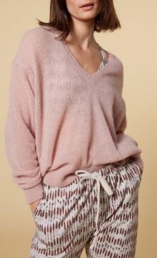 10Days V-Neck Sweater Alpaca - Soft Pink