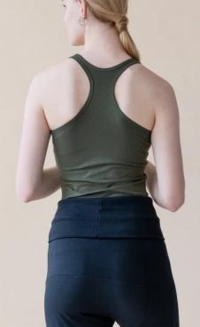 Racer back Yoga Top - Dark Olive