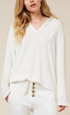 10Days Polo Shirt Linen - Offwhite