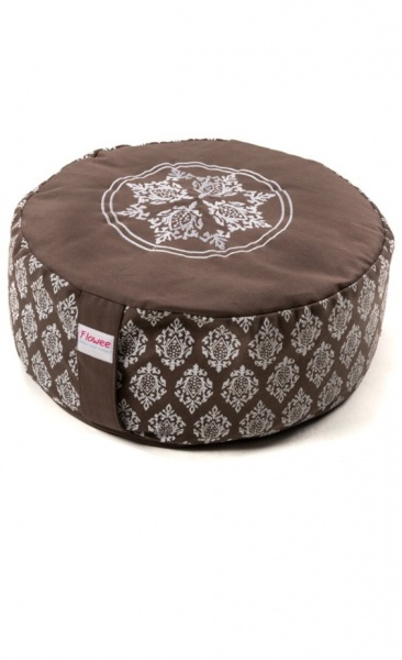 Mandala Meditation Cushion BIg - Taupe