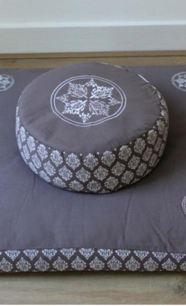 Mandala Meditation Cushion BIg - Taupe - 4