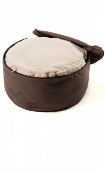 Meditation Cushion Mandala - Taupe - 3