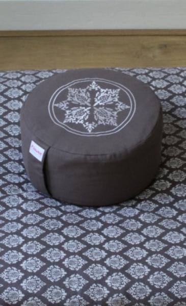 Meditation Cushion Mandala - Taupe - 4