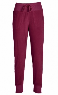 Chenille Lounge Jogger - Tango Red