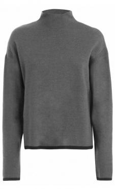 Knit High Neck Sweater - Dark Grey Marl