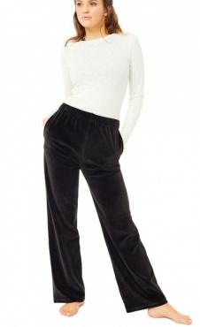 Mandala High Waist Velvet Pants - Black