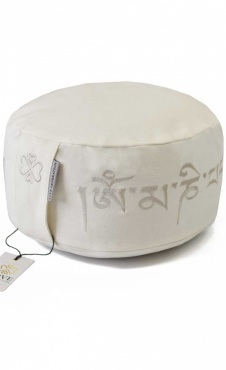 Meditation Cushion Mantra Ivory White