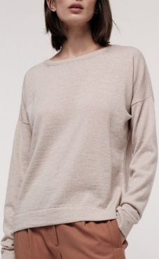 Lanius Classic Merino Sweater Cream melange